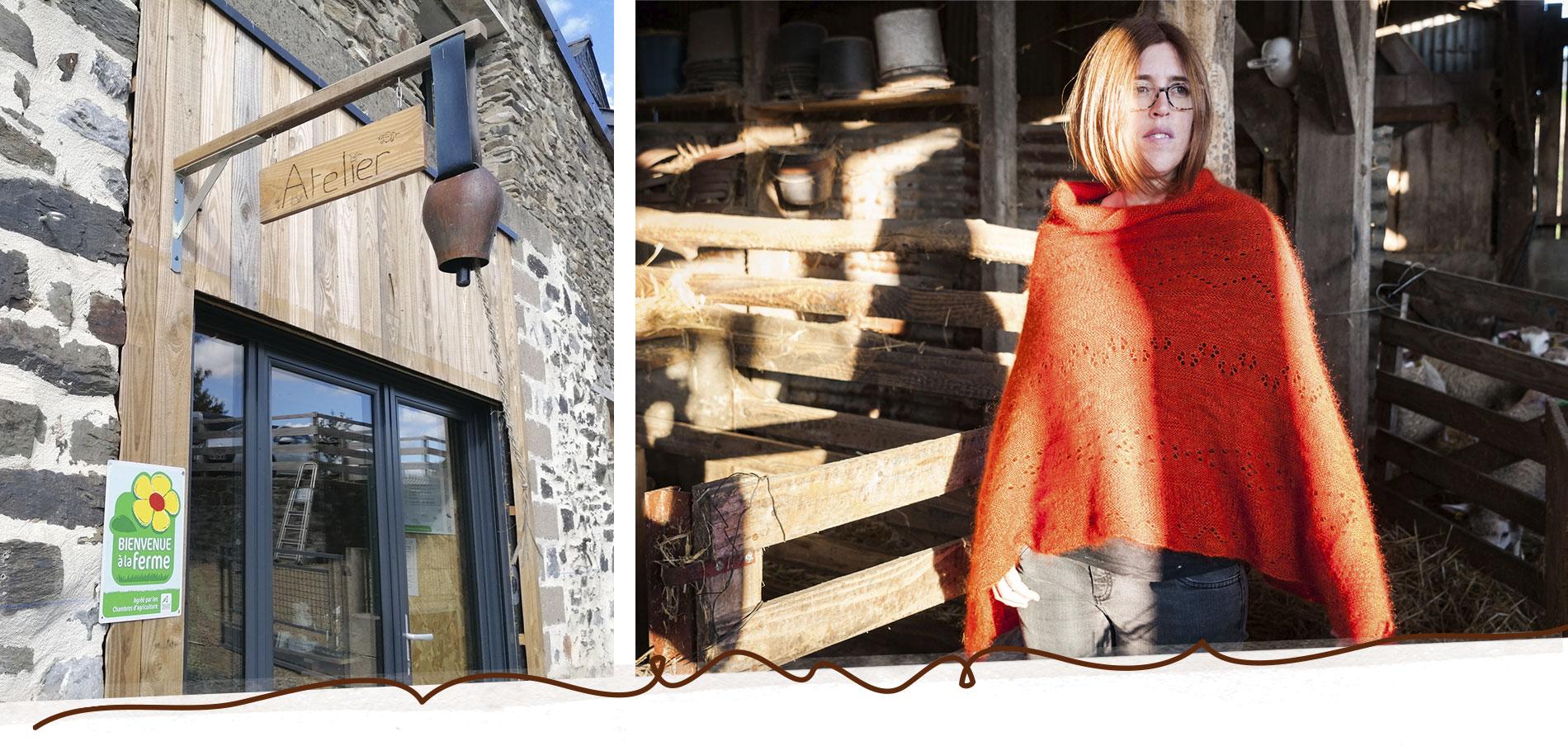 Atelier boutique à la ferme Mohair