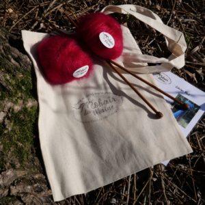 Kit tricot écharpe Miel «Zen»